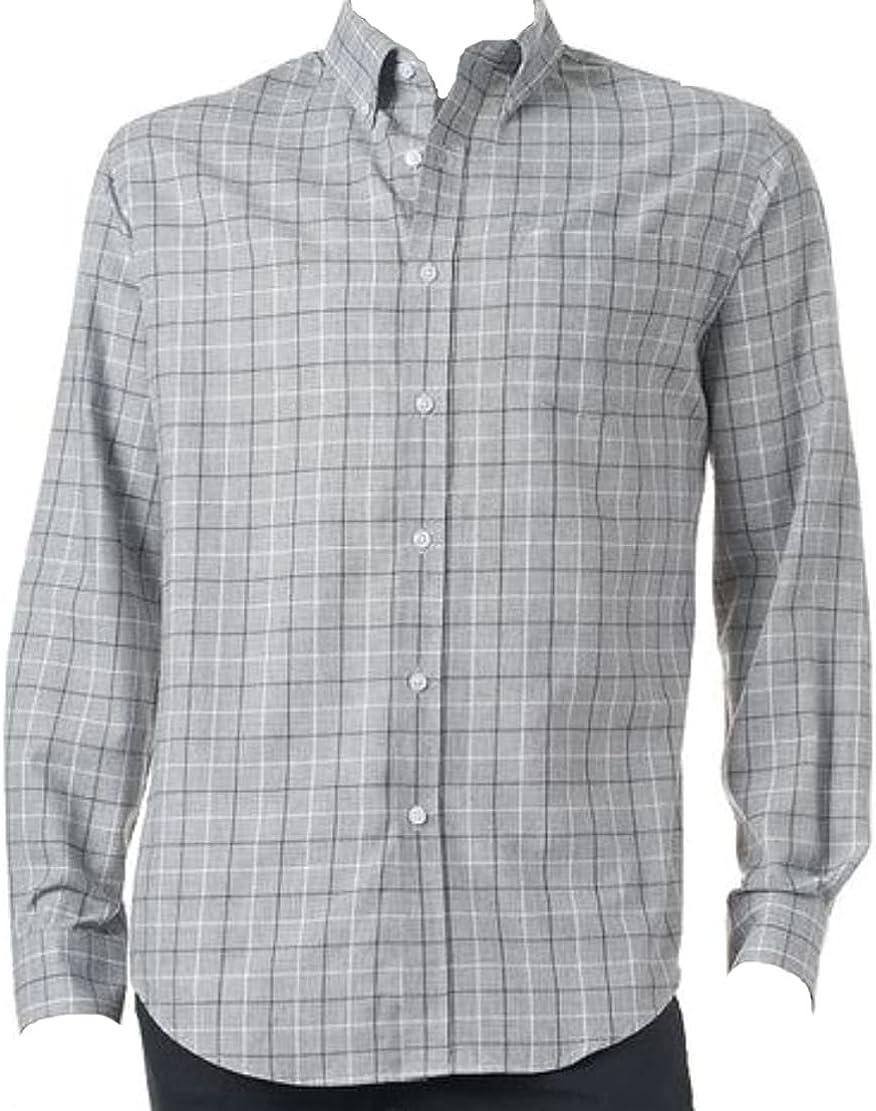 Croft & Barrow Mens Classic Fit Easy Care Casual Shirt Grey Plaid