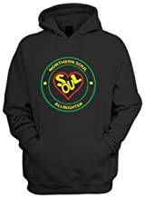 Tribal T-Shirts Northern Soul All Nighter Heart Logo Pouch Pocket Hoodie