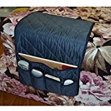 NOVADEAL Sofa Couch Chair Armrest Storage Organizer, Tools Holder Organizer with 5 Pockets, Fits for Phone, iPad, Book, Magazines, TV Remote Control - Dark Blue
