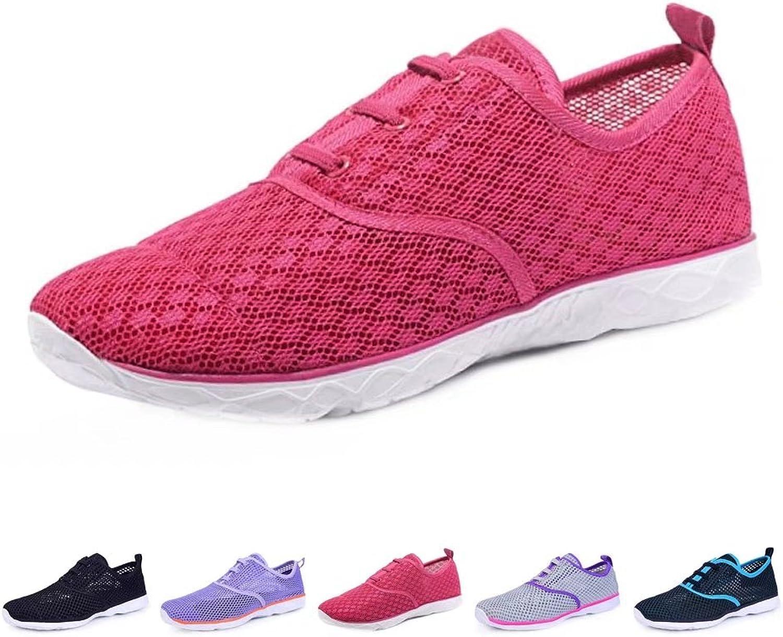 BOKEN Women's Quick Drying Aqua Water shoes Lightweight Sneakers