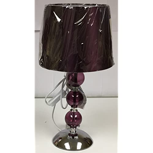 plum colour table lamps