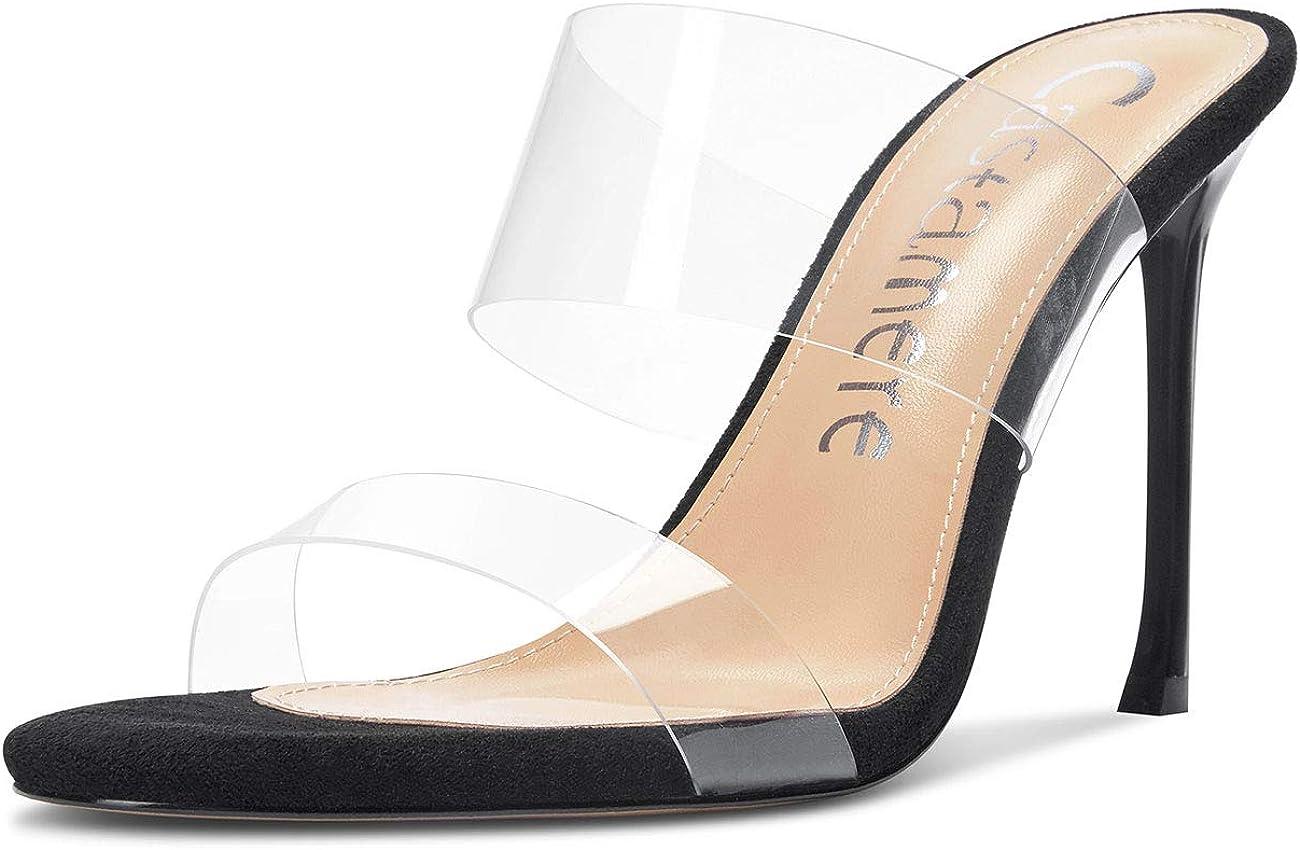 CASTAMERE Womens High Heels Slip Transparent On 正規取扱店 Clear 新作からSALEアイテム等お得な商品 満載 Op Sandals