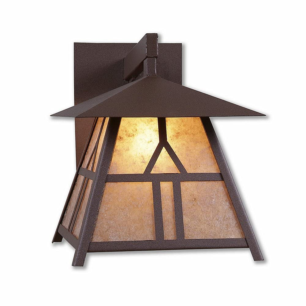 Outdoor wholesale Wall Light Lodge Style Made Unique USA in Smoky Max 52% OFF Moun