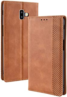 Case for Samsung Galaxy J6 PLUS,Leather Stand Wallet Flip Case Cover for Samsung Galaxy J6 PLUS,Retro magnetic Phone shel...