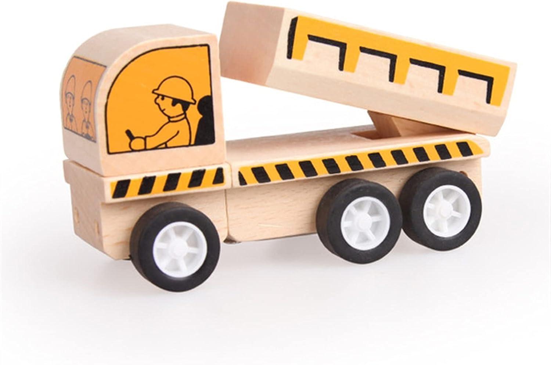 LJJ Wooden Construction Vehicles Limited price sale Truck Excavator T Toys Dump - New arrival