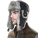 (シッギ)Siggi 本物の100%ラビットファー 冬用防寒帽子 56-61cm