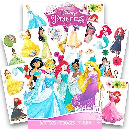 Disney Princess Tattoos - 50 Assorted Temporary Tattoos ~ Cinderella, Ariel, Belle, and More!