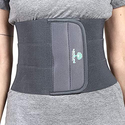 Abdominal Belt after delivery Tummy Reduction Trimmer Belly Slimming Binder for Women post pregnancy care (Grey Color, 2 Extra Large 42-46 Inch waist size)