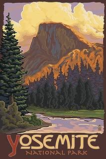 Yosemite National Park, California - Half Dome (9x12 Art Print, Wall Decor Travel Poster)