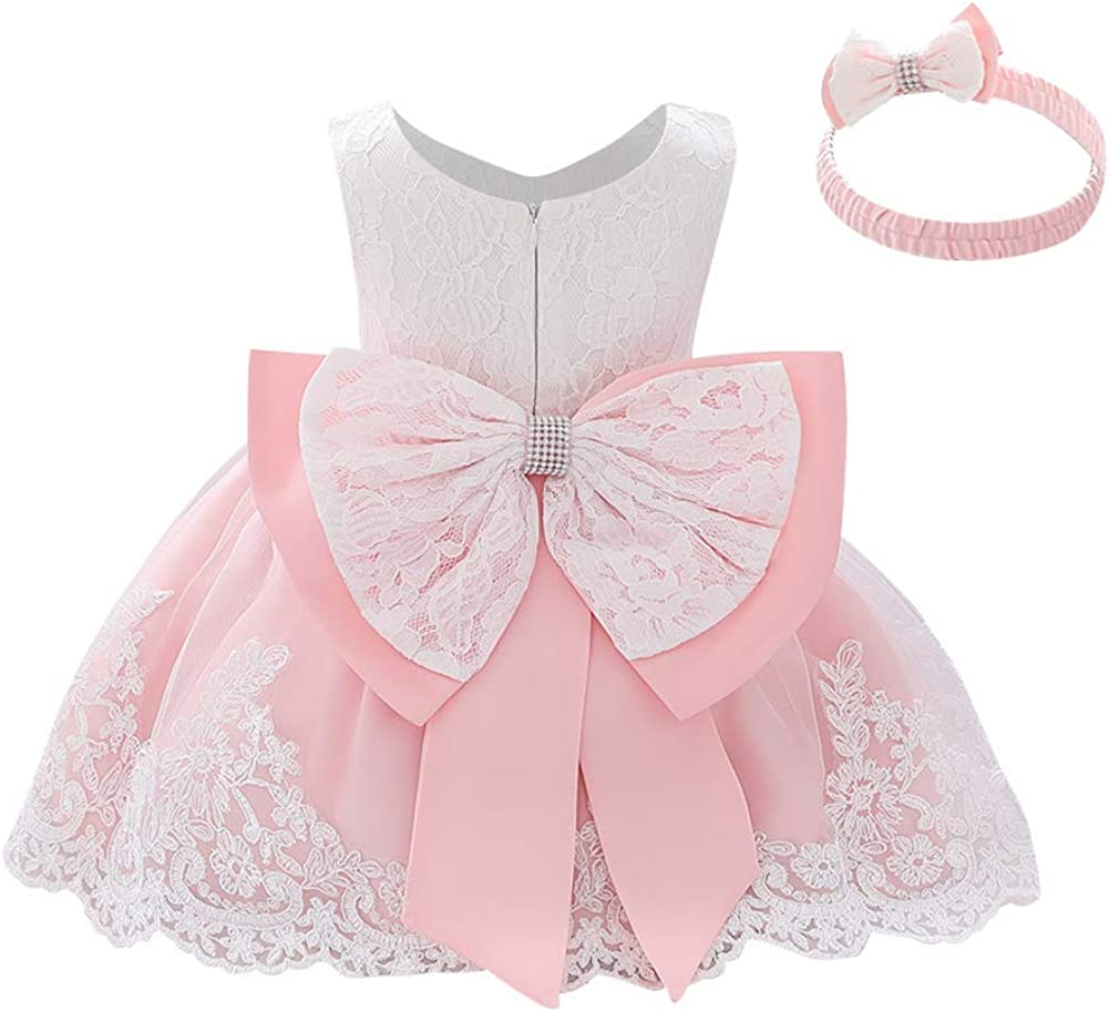 55% OFF IMEKIS Baby Attention brand Girl Christening Baptism Headband with Bowknot Gowns