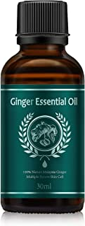 Sponsored Ad - SAILINE 100% Pure Natural Ginger Essential Oil 1oz Bottle - Perfect for Aromatherapy, Relaxation, Skin Ther...