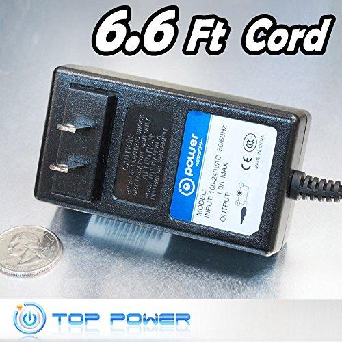 T-Power (6.6ft Long Cable) AC Adapter Compatible with iHome iH6 iH8 iH5 iH5B IH5BRE Dual-Alarm Clock Radio iPod Station U150120DA3 SAD7015SE MKD-481501200 Charger Power Supply Cord AC,DC Plug