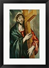 Christ Carrying The Cross by El Greco Framed Art Print Wall Picture, Black Frame, 18 x 25 inches