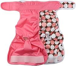 UEETEK Female Pet Dog Puppy Hygiene Diaper Pants Washable Reusable Nappy Pants Size XS 2PCS (Rose Red)