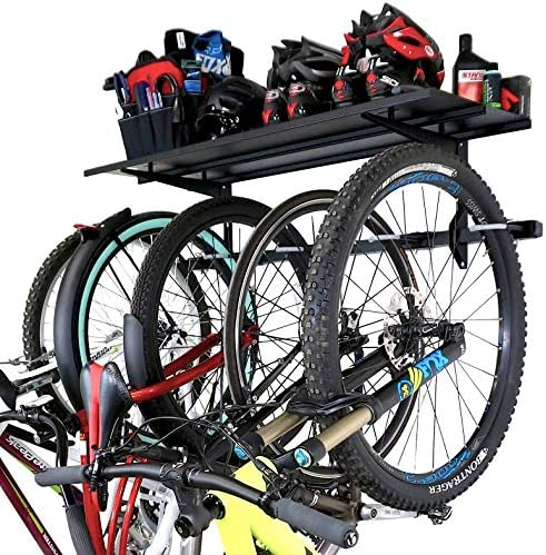 StoreYourBoard Bike Rack Storage Shelf Holds 5 Bicycles Garage Adjustable Bike Wall Mount product image