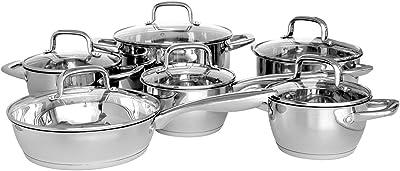 Gofortun Cookware Set,Kitchen Set,12 Pcs Stainless Steel