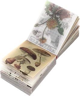 EXCEART 1 Vintage Set Scrapbooking DIY Matériel Papier Fleur Décoratif Antique Rétro Naturel Art Artisanat Journal Journal...