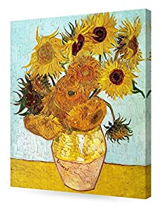 DECORARTS - Twelve Sunflowers, Vincent Van Gogh Art Reproduction. Giclee Canvas Prints Wall Art for Home Decor 24x20 from Decor Arts International Corp
