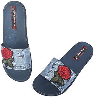 NEW AMERICAN Women Stylish & Comfortable Denim Slippers