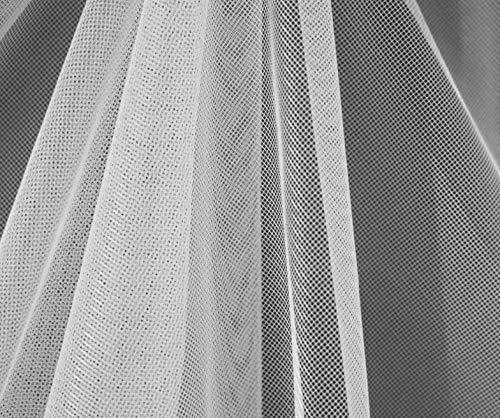 Tulle Moustiquaire 10 Couleurs , Pour Porte Rideaux Fenetres, Découpable , 7M X 150CM (Blanc)