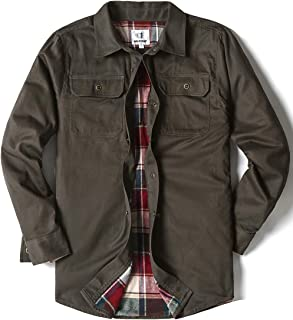 Men's Heavyweight Canvas Flannel Lined Shirt Jacket