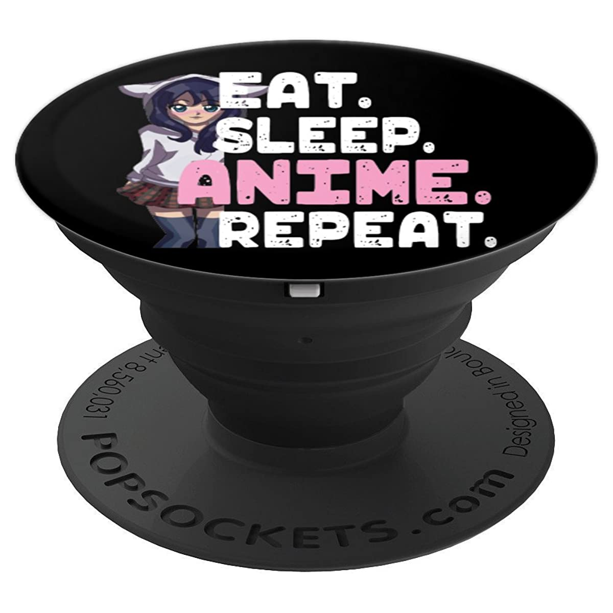 Anime Eat Sleep Repeat - PopSockets Grip and Stand for Phones and Tablets