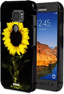 Galaxy S7 Active Case,AIRWEE Slim Anti-Scratch Shockproof PC Hard Back Protective Cover Case Samsung Galaxy S7 Active(2016),Sunflower in Black