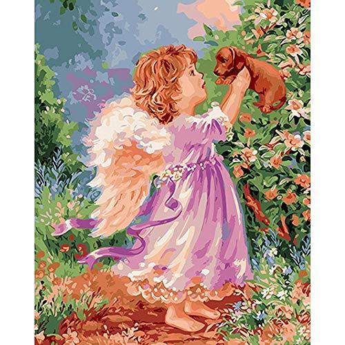 ZXDA Frameles DIY Pintura por números Imagen por números Paisaje Pared Arte Pintura acrílica para decoración del hogar Arte A11 45x60cm