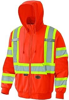 Pioneer V1060550U Hi-Vis Micro Fleece Zip Hoodie - Orange (Large)