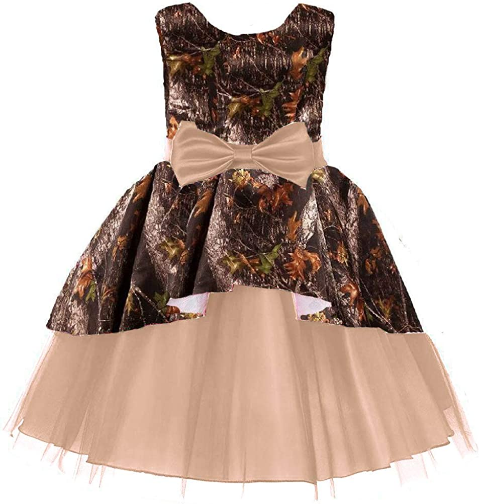 YINGJIABride Camo Tulle Tutu Party New Orleans Mall Dress Girl for Flower Dresses Year-end annual account
