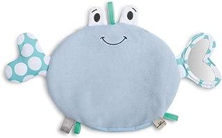 DEMDACO Crab Smiling Soft Blue 11 x 7 Cotton Blend Fabric Bathtub Activity Mitt Toy