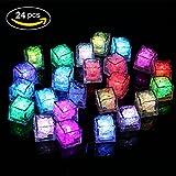 Ice Led Light – 24 unidades de cubitos de hielo LED multicolor, cambian de color