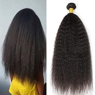 Moresoo 12pulgadas Natural Negro #1B Kinky Straight Hair Weave Brasileño Virgen Extensiones Pelo 100% Natural cortina Negro #1B Remy Extensiones de Cabello Natural Cortinas 100g
