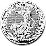 Moneda de plata Britannia 2021 en una cápsula de moneda sin montura