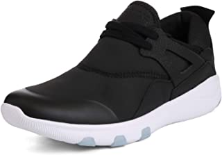 JOOMRA Men's Stylish Sneakers Lightweight Cushion Athletic Shoes Black Size: 13