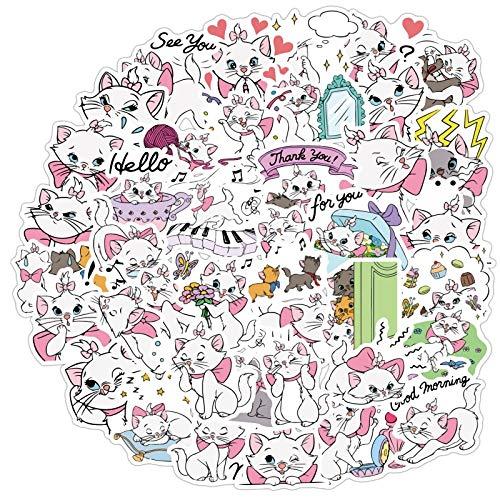 BLOUR Mary Cat Cartoon Mode PVCSchreibwaren Aufkleber Scrapbooking DIY Tagebuch Album Stick Label