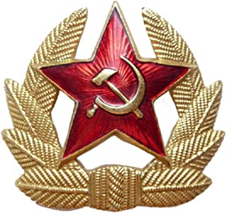 RRTK SOVIET ARMY RED STAR INSIGNIA HEAD GEAR BADGE