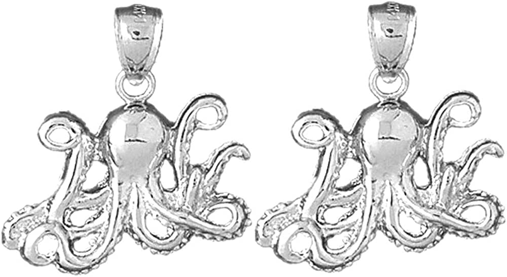 Jewels Obsession Max 76% OFF Max 76% OFF Octopus Earrings Sterling Leve Silver