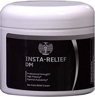 Insta-Relief DM Pain Relieving Cream | Soothing Topical Anaesthetic for Diabetic Peripheral Neuropathy and Nerve Support | Ultra Pain Reliever of Muscle, Leg, Back, Hand, Foot & Arthritis | 4 oz.