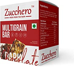 Zucchero Gourmet Antioxidant and Flat Tummies Dark Chocolate Granola Bar - Pack of 10