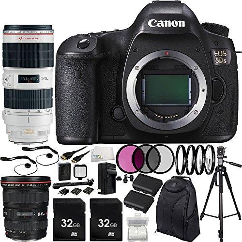 Buy Canon EOS 5DS DSLR Camera with EF 17-40mm f/4L USM Lens & EF 70-200mm f/2.8L is II USM Lens & 15...