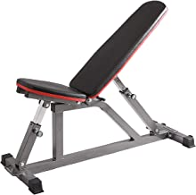 Finer Form Gym Quality Adjustable Weight Bench, Utility Bench, Flat Bench, Incline Bench and Upright Bench for Dozens of Exercises, Strength Training and Abdominal Workouts for Home Gym.