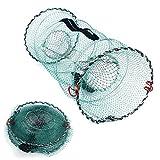 HpyAlwys Fishing Collapsible Trap Cast Keep Net Crab Crayfish Lobster Catcher Pot Trap Fish Net Eel Prawn...
