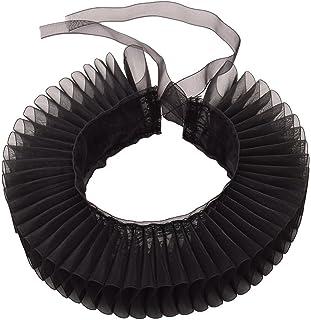 GRACEART Elizabethan Dickens Payaso con cuello con volantes (negro)
