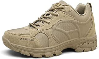 Suetar Men's Breathable Nylon Upper and Non-slip Rubber Sole Military Tactical Sports Shoes K23