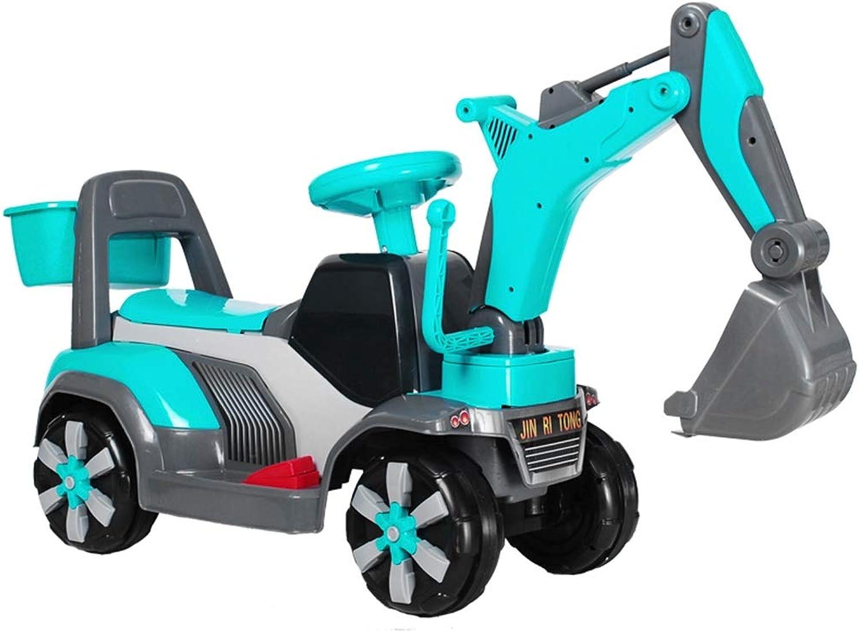 Xiaomei Spielzeugauto Kinder-Bagger Spielzeug, Voll Funktionsfhiger Kunststoff Kann Auf Kinder Hin Und Her Bewegt Werden (Farbe   A)
