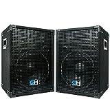 Grindhouse Speakers - GH12L-Pair - Pair of Passive 12 Inch 2-Way PA/DJ Loudspeaker Cabinets - 700...