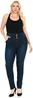 Pasion Women's Jeans · Plus Size · High Waist · Push Up · Style N497