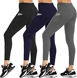 High Waist Yoga Pants for Women - Non See Through Tummy Control Yoga Leggings with Pockets for Workout, Running