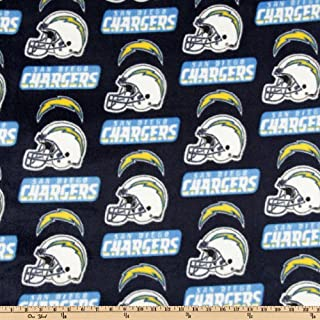 NFL Fleece San Diego Chargers Blue Fabric By The Yard